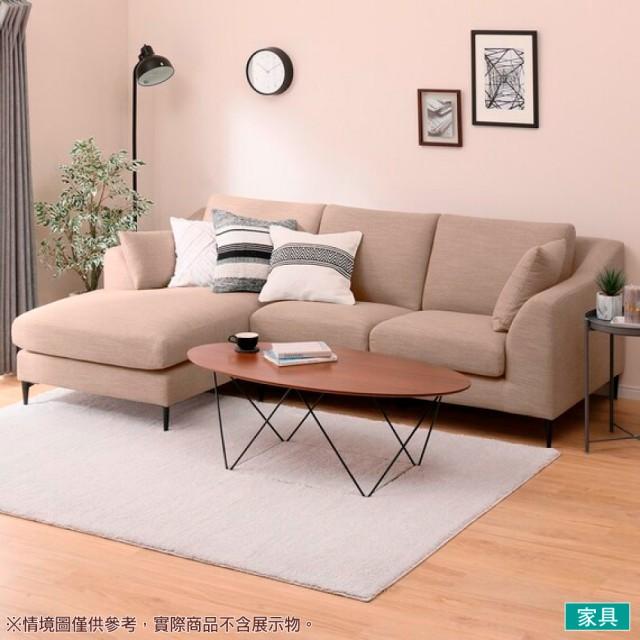 【NITORI 宜得利家居】◎布質右躺椅L型沙發 N-POCKET A15 DR-BE(L型沙發 角落沙發 躺椅沙發)