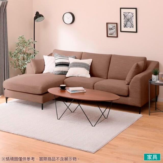 【NITORI 宜得利家居】◎布質右躺椅L型沙發 N-POCKET A15 DR-DMO(L型沙發 角落沙發 躺椅沙發)