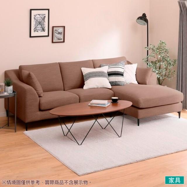 【NITORI 宜得利家居】◎布質左躺椅L型沙發 N-POCKET A15 DR-DMO(L型沙發 角落沙發 躺椅沙發)