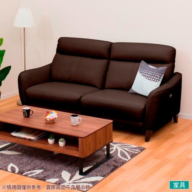 【NITORI 宜得利家居】◎半皮3人用電動可躺式沙發 ANHELO NB DBR(沙發 電動沙發)