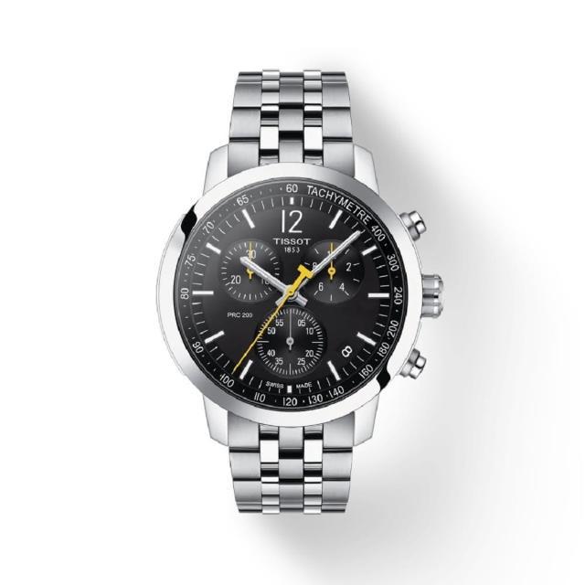 【TISSOT 天梭】PRC 200計時運動錶/42mm(T1144171105700/黑面)