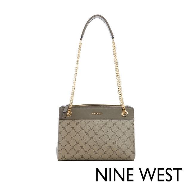 【NINE WEST】ELLIE經典LOGO紋鍊帶肩背包(116813)