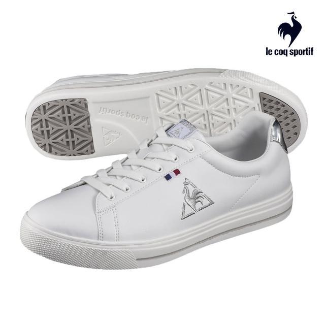 【LE COQ SPORTIF 公雞】運動鞋 網球鞋 男/女鞋-白 銀刺繡-LJN7321211