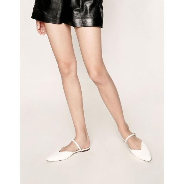 【CHARLES & KEITH】V型穆勒拖鞋-白色