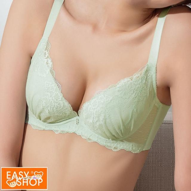 【EASY SHOP】easy line-舒壓低脊心集中內衣(蘋果綠)