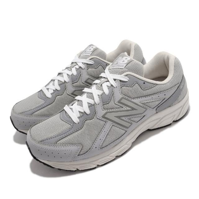 【NEW BALANCE】慢跑鞋 480 V5 4E 超寬楦 男女鞋 紐巴倫 輕便跑鞋 耐磨 基本款 情侶鞋 灰 白(W480KR54E)