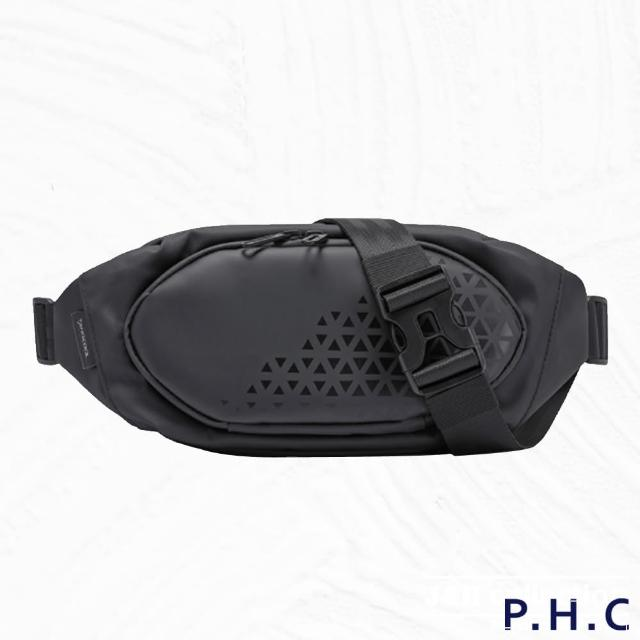 【PHC】防潑水輕便肩背斜背胸包腰包(現+預 黑色)