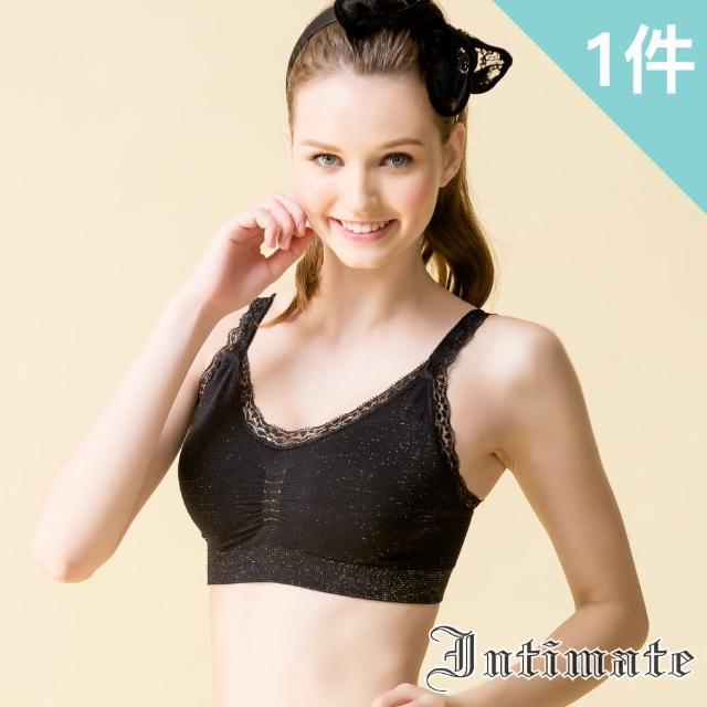 【Intimate 內著】性感華麗金絲穩定無鋼圈內衣 S-XXL(特惠黑色1件組)