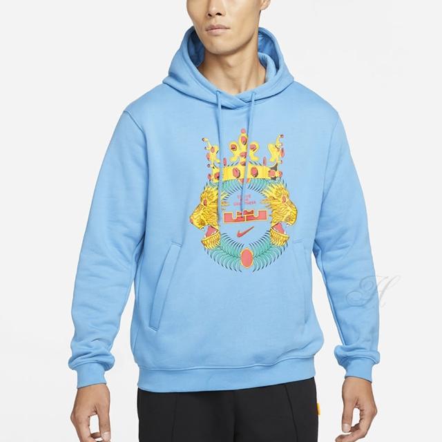 【NIKE 耐吉】上衣 男款 長袖 帽T 運動 AS LJ M NK HOODIE PO 藍 DA6712-469