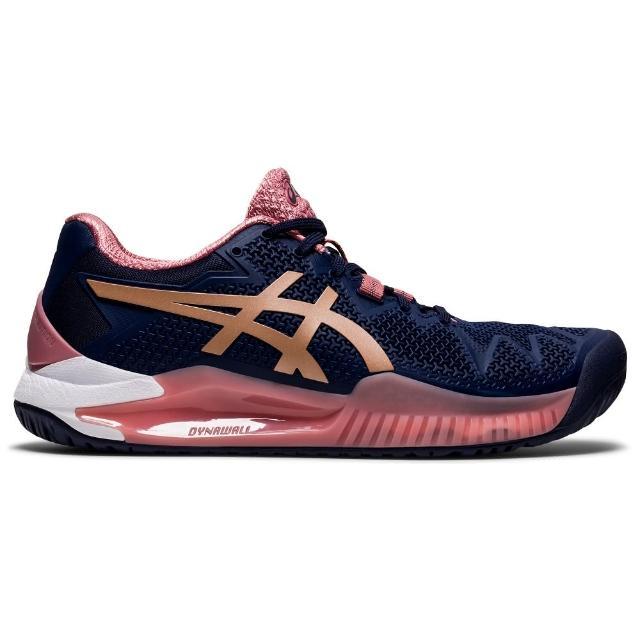 【asics 亞瑟士】網球鞋 GEL-RESOLUTION 8 女鞋 網球 網球鞋(1042A072-404)